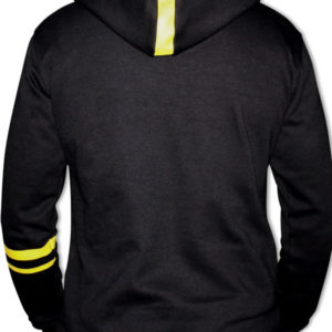 DINATO Hoodie Black Yellow Back