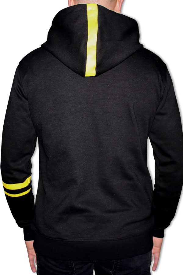DINATO Hoodie Black Yellow Back