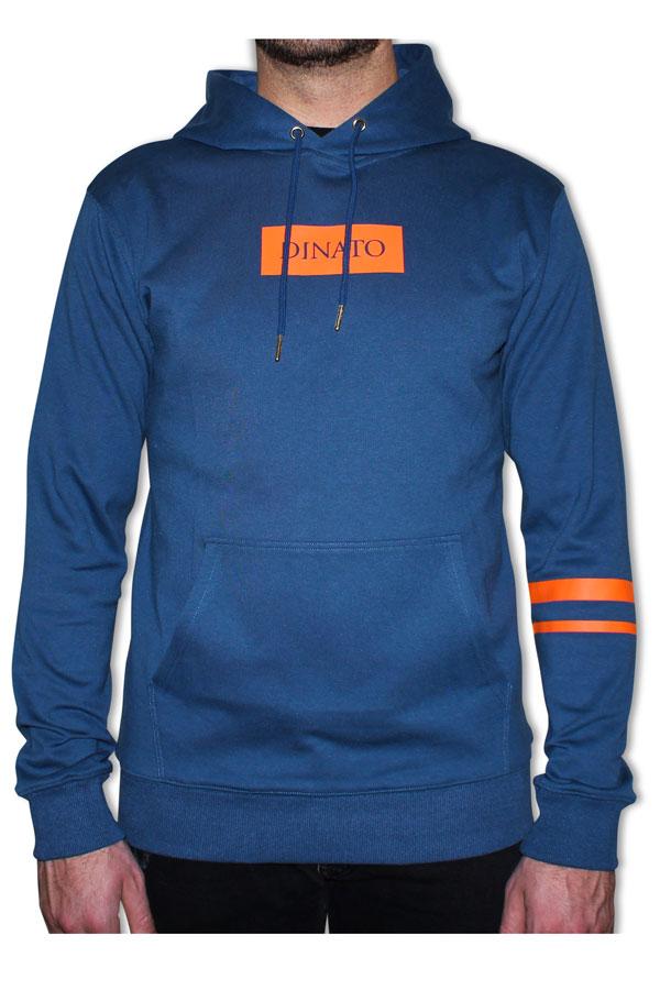 DINATO Hoodie Blue Orange Front