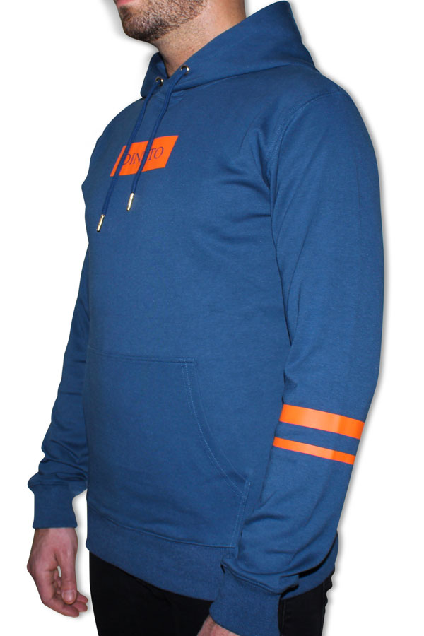 DINATO Hoodie Blue Orange Side