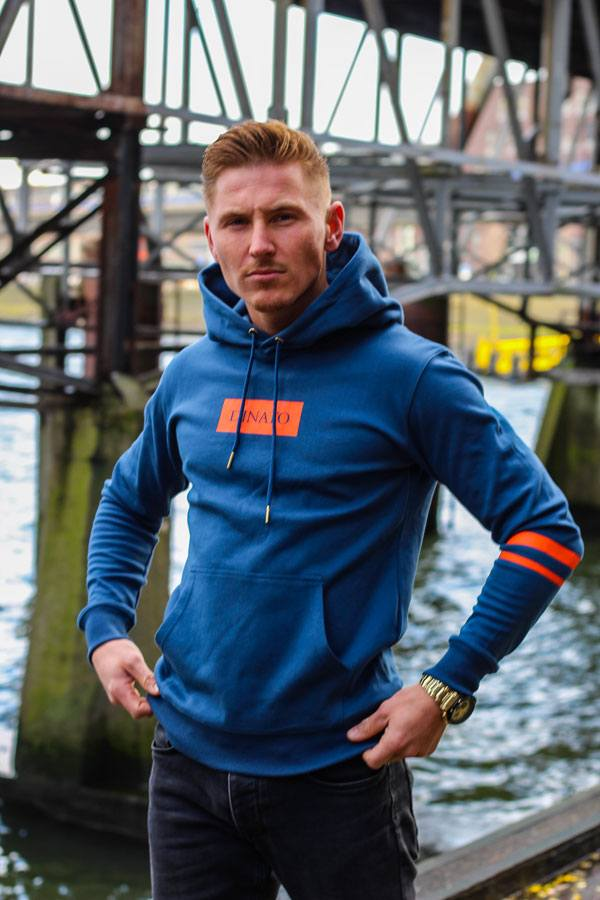 DINATO Hoodie Brooklyn Blue Orange