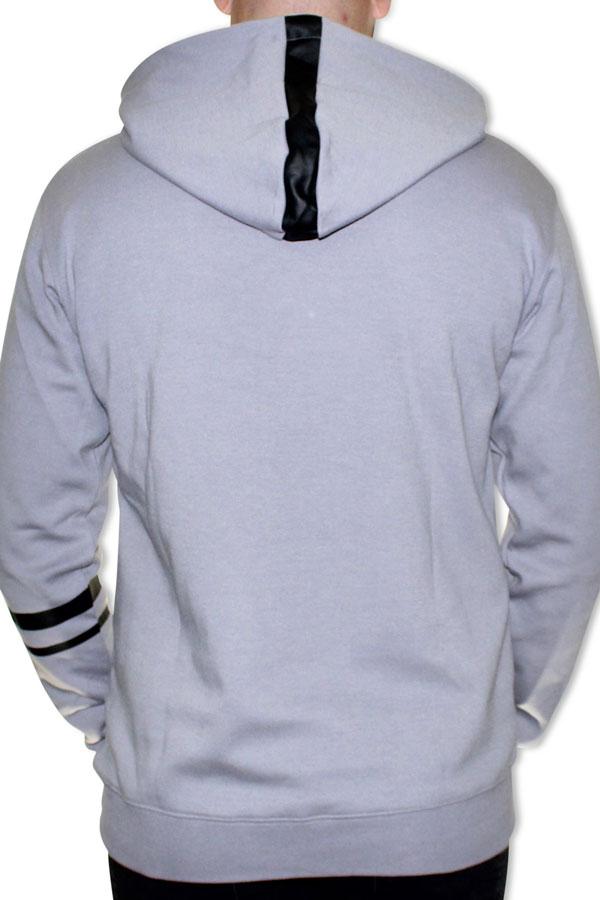 DINATO Hoodie Grey Black Back
