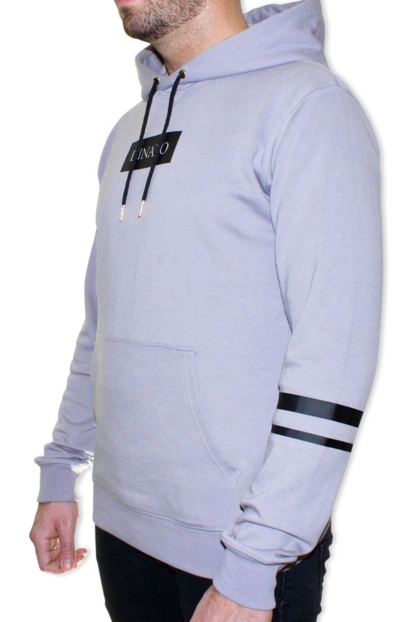 DINATO Hoodie Grey Black Side
